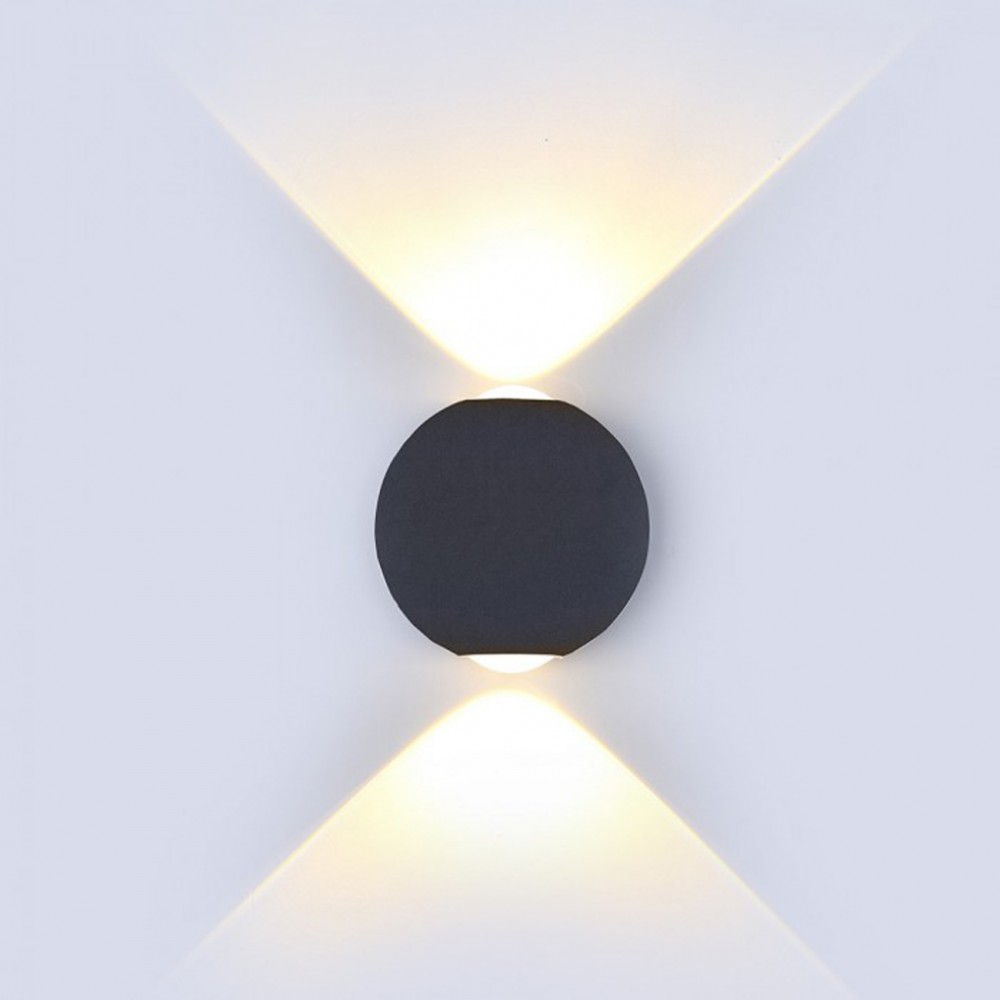 Aplica LED 6W glob Corp Negru Alb Cald