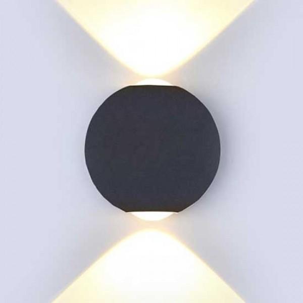 Aplica LED 6W Corp Negru Rotund Alb Neutru