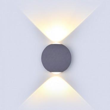 Aplica LED 6W glob Corp Gri Alb Cald