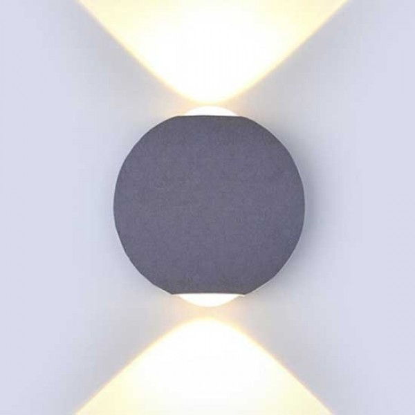 Aplica LED 6W glob Corp Gri Al...