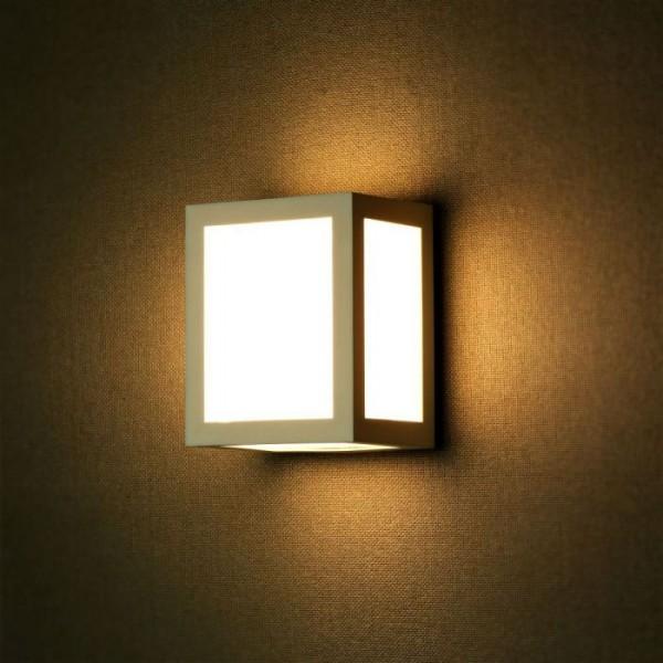 Aplica LED 12W patrata Corp Alb lumina rece
