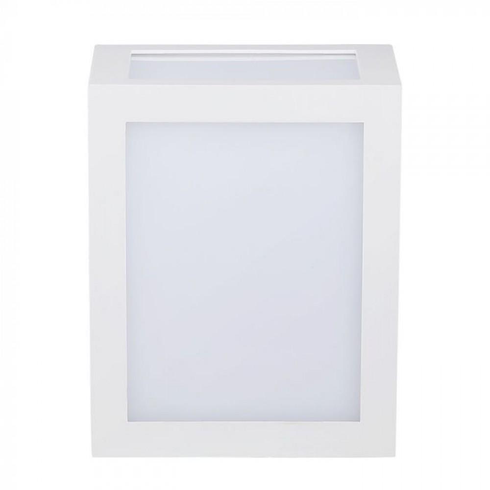 Aplica LED 12W patrata Corp Alb lumina calda