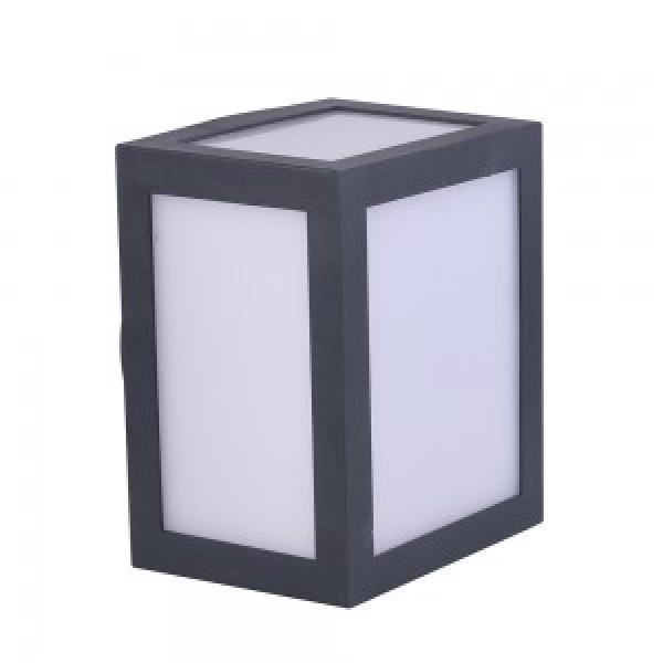 Aplica LED 12W Corp Gri Alb Ne...