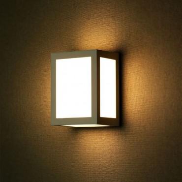 Aplica LED 12W patrata Corp Gri lumina calda