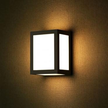 Aplica LED 12W patrata Corp Negru lumina rece