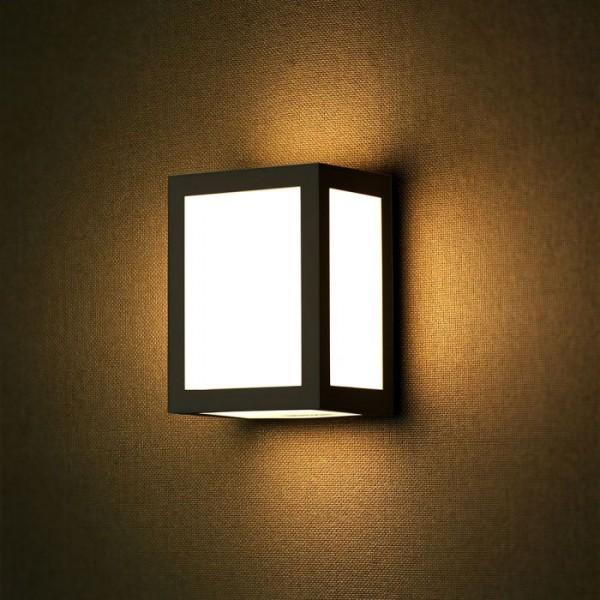 Aplica LED 12W patrata Corp Negru lumina neutra