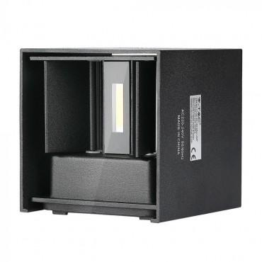 Aplica LED 12W patrata cip BRIDGELUX Corp Negru Alb Cald