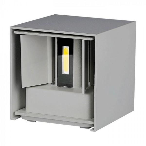 Aplica LED 12W patrata cip BRIDGELUX Corp Gri Alb Cald