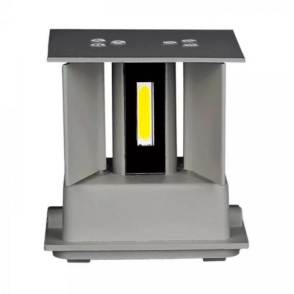 Aplica LED 12W patrata cip BRIDGELUX Corp Gri
