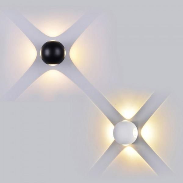 Aplica LED 4W glob Corp Negru Alb Cald