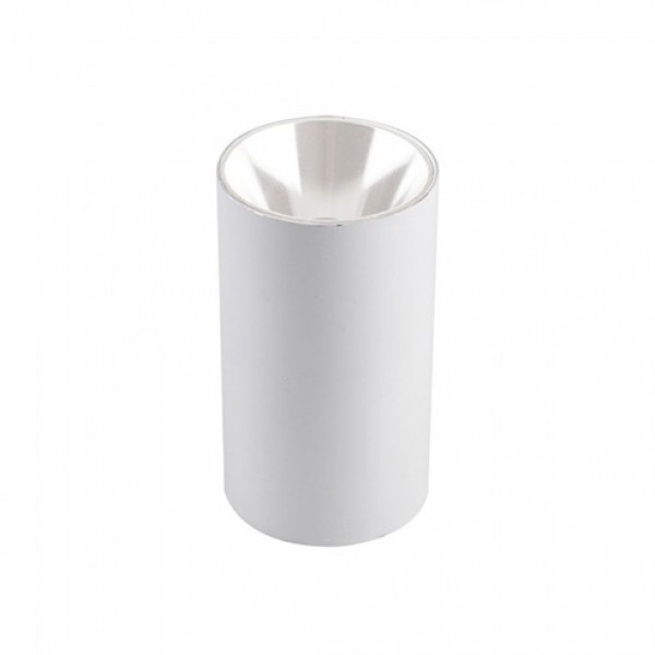 Plafoniera rotunda suport GU10 corp alb reflector alb