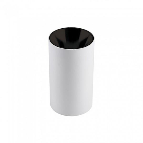 Plafoniera rotunda suport GU10 corp alb reflector negru