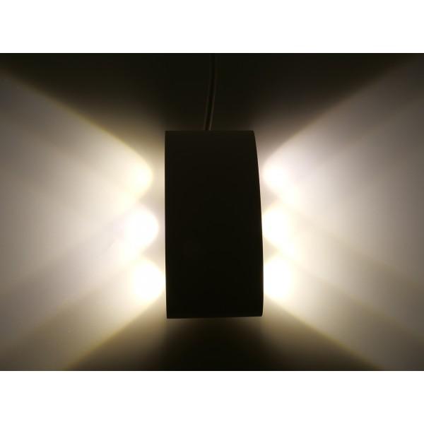 Aplica LED 6W iluminare sus jos Corp Alb Alb Cald