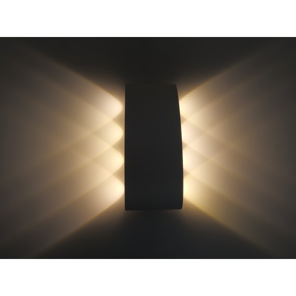 Aplica LED 8W iluminare sus jos Corp Alb Alb Cald