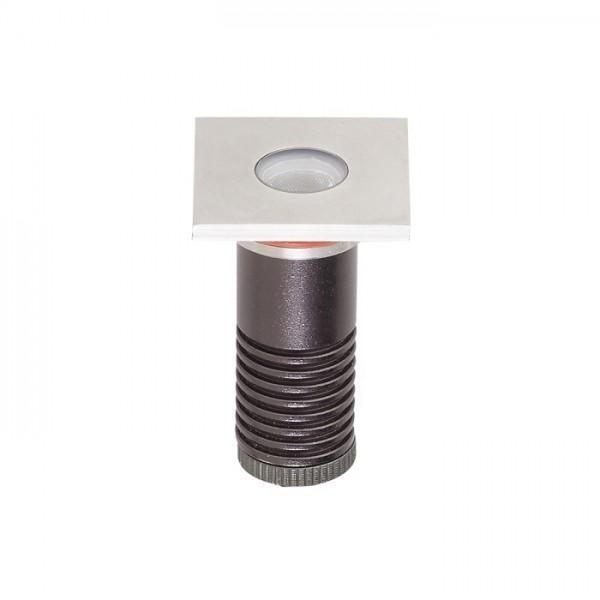 Spot LED etans 1W XGROUND patrat cu montaj ingropat in pardoseala
