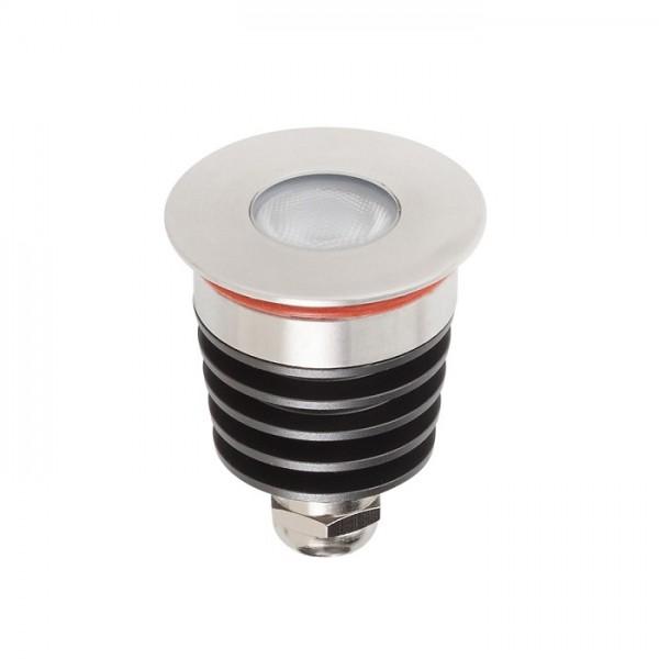 Spot LED etans 3W XGROUND rotund cu montaj ingropat in pardoseala UGR<7