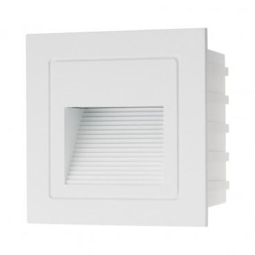 Spot LED etans XGHOST 2W incastrat in perete patrat alb negru