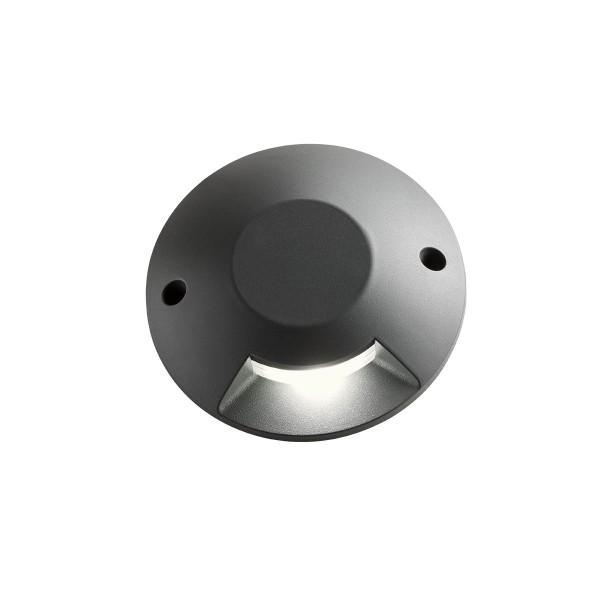 Spot LED etans 6W XPUCK unidirectional cu montaj aparent pentru pardoseala alb cald