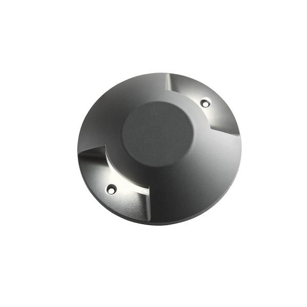 Spot LED etans 12W XPUCK bidirectional cu montaj aparent pentru pardoseala alb cald