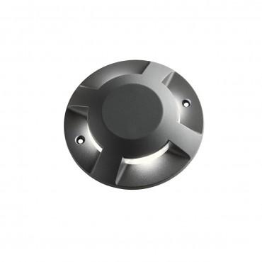 Spot LED etans 12W XPUCK 4 directii cu montaj aparent pentru pardoseala alb cald