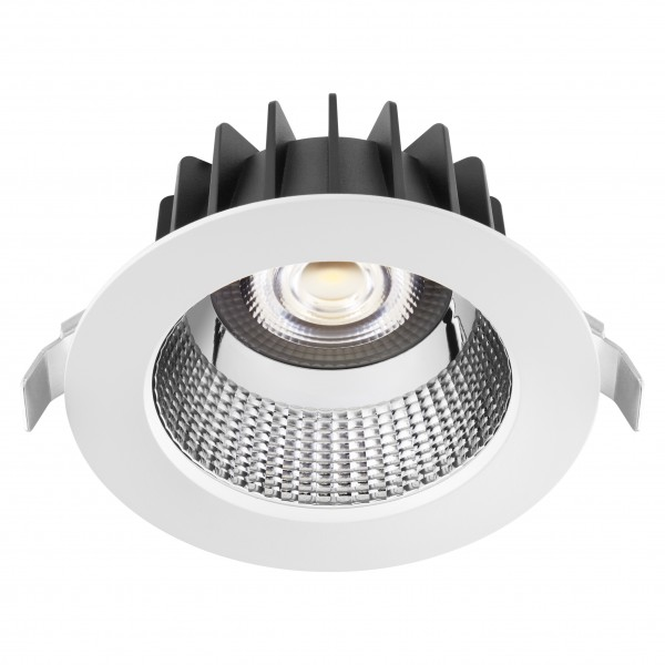 Spot LED 25W Rotund GEWISS ELIA AL reflector aluminiu Alb Neutru UGR<19