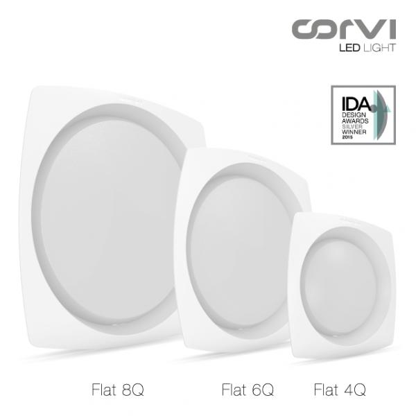 Spot LED Corvi Flat 4Q 6W Dimabil Alb Neutru