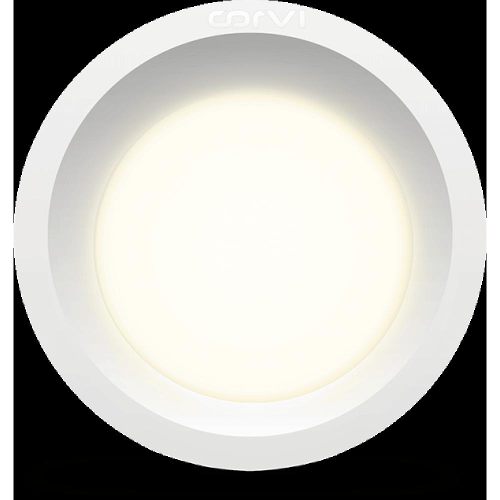 Spot LED Corvi 6W Flat 4 rotund Dimabil Alb Neutru