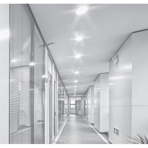 Spot LED Corvi 20W Flat 8 rotund Dimabil Alb Neutru