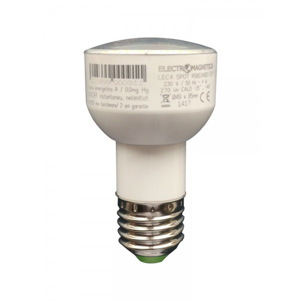 Spot LED Lec 4W E27 lung - lumina calda