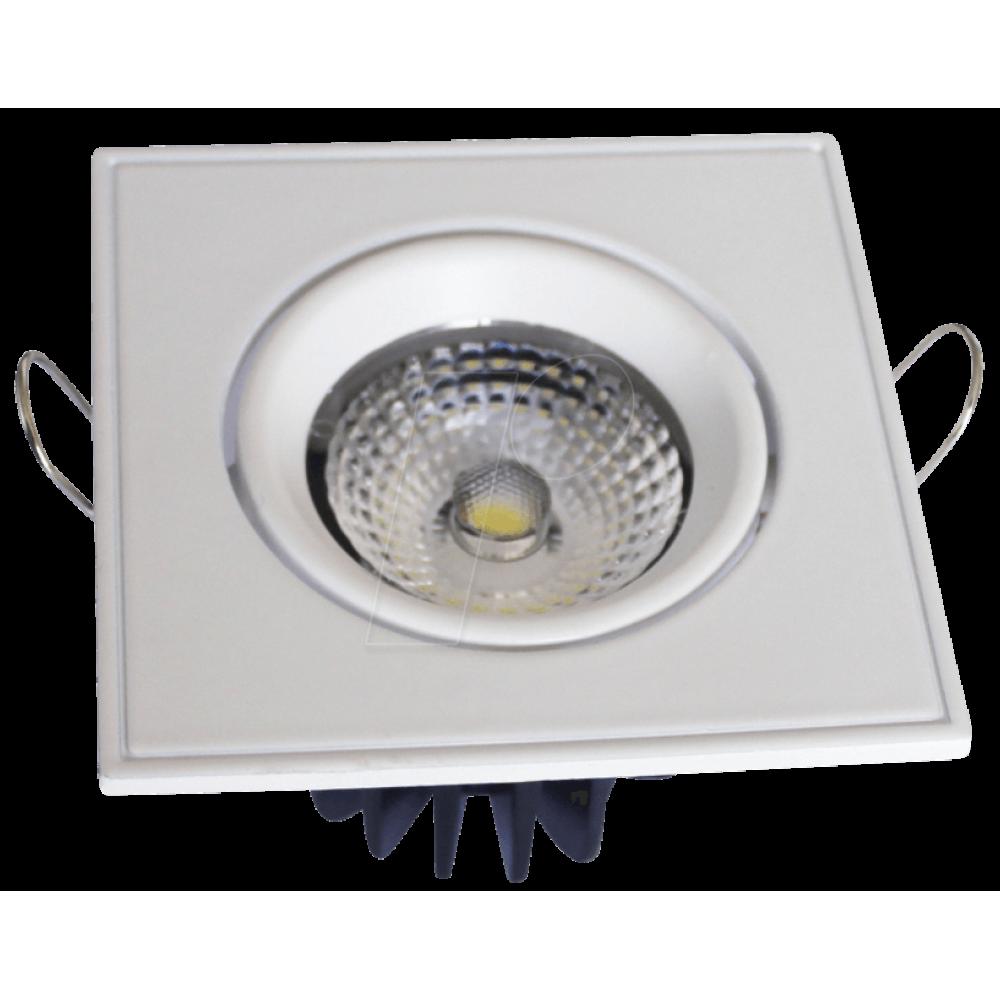 Spot LED 3W Downlight Ajustabil COB Patrat Alb Rece