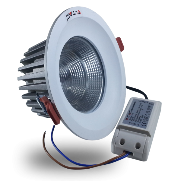 Spot LED 24W Downlight Bridgelux COB Alb Rece