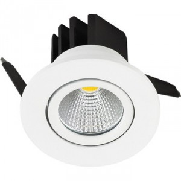 Spot LED 3W Downlight COB Rotund Alb Rece