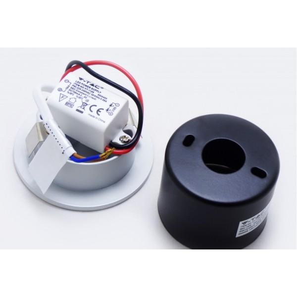 Spot LED 3W pentru treapta rotund Corp Alb Alb Neutru