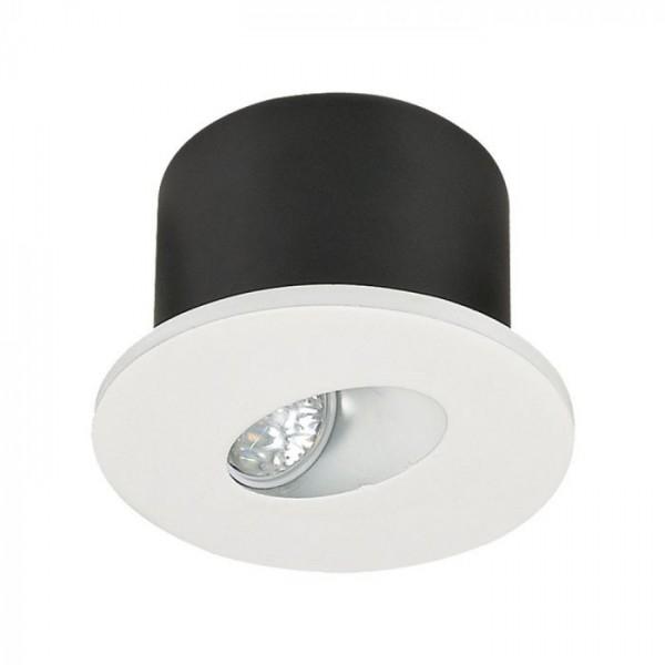 Spot LED 3W pentru treapta rotund Corp Alb Alb Cald