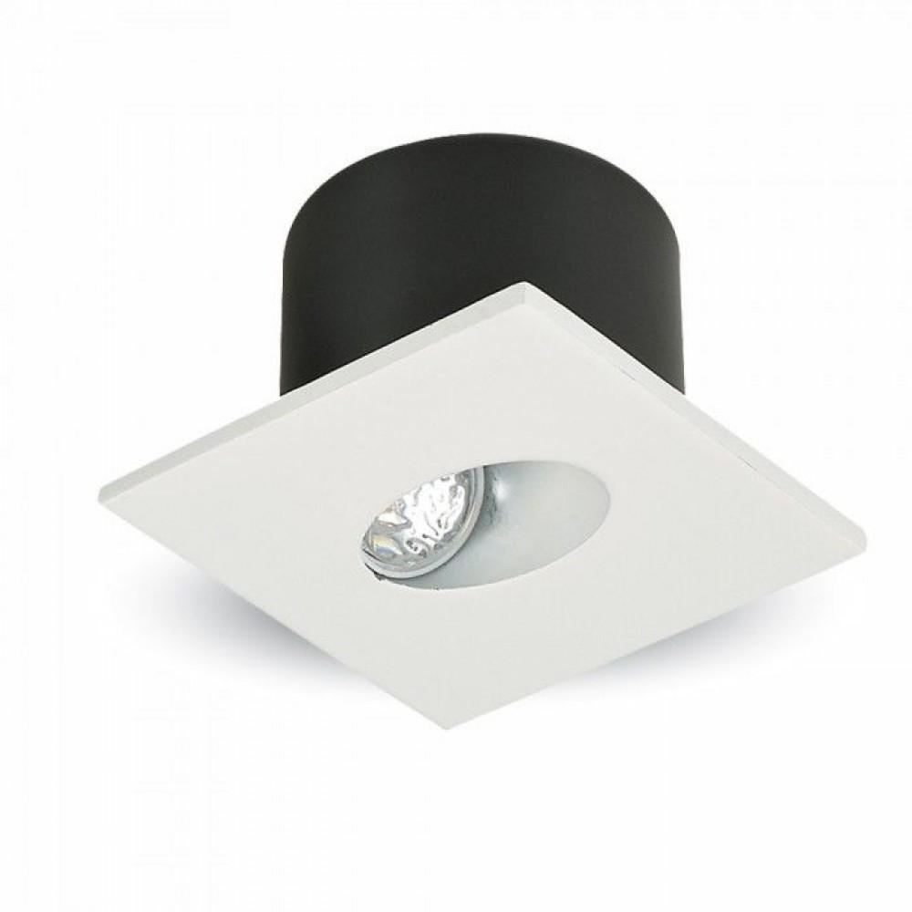 Spot LED 3W pentru treapta patrat Corp Alb Alb Neutru