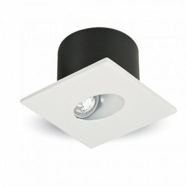 Spot LED 3W pentru treapta patrat Corp Alb Alb Cald