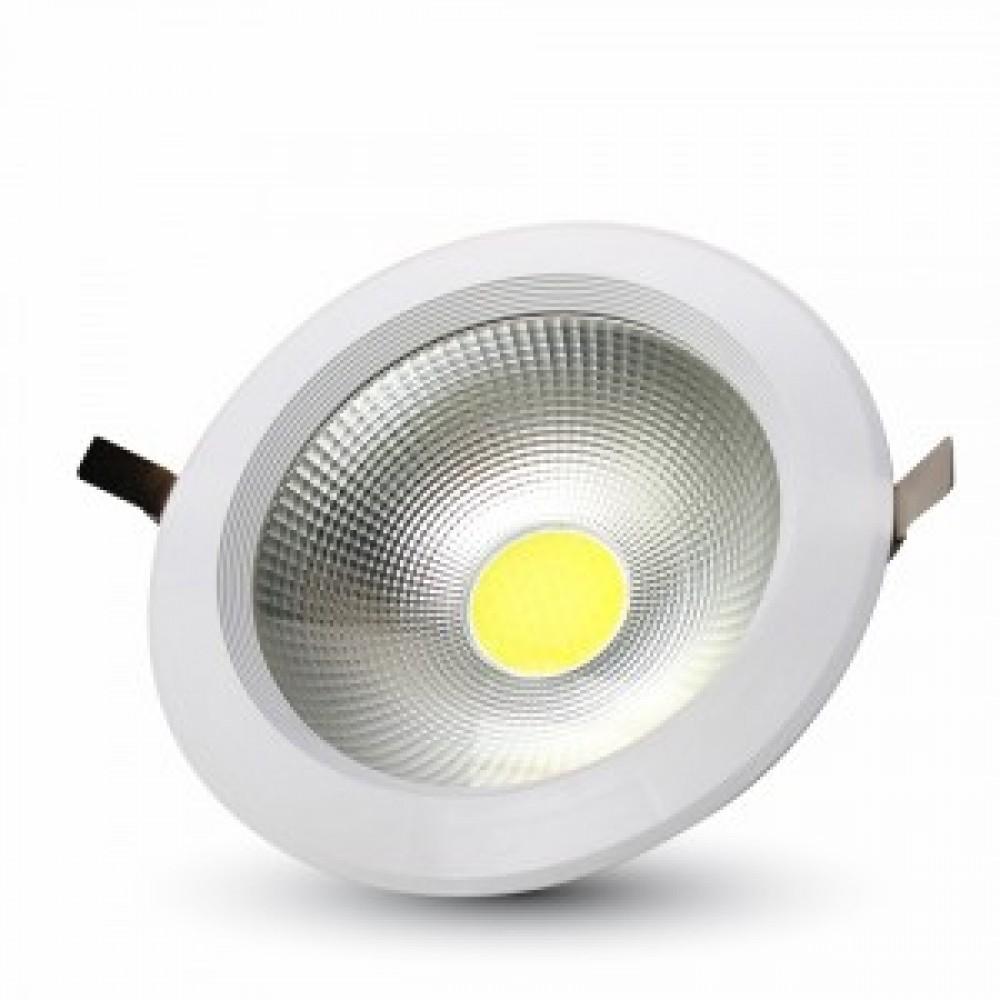 Spot LED 10W COB Rotund 120lm/W Alb Rece