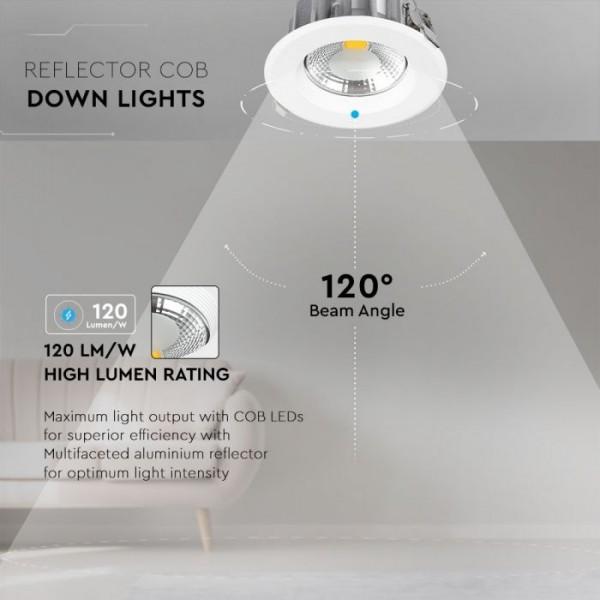 Spot LED 30W COB Rotund 120lm/W Alb Rece