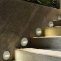 Spot LED etans 2W pentru scari rotund Corp Gri Alb Neutru