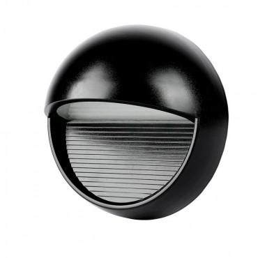 Spot LED etans 3W pentru scari rotund Corp Negru Alb Cald