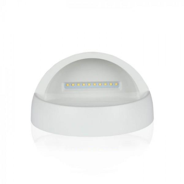 Spot LED etans 3W pentru scari rotund Corp Alb Alb Cald