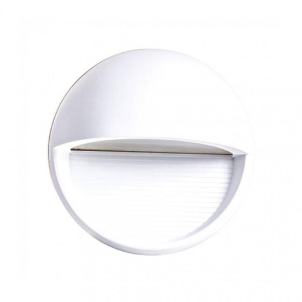 Spot LED etans 3W pentru scari rotund Corp Alb Alb Neutru