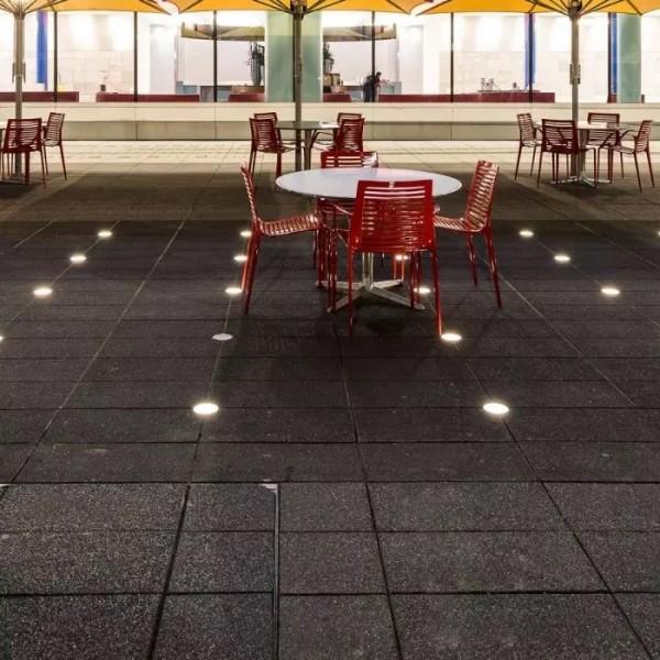 Spot LED etans 6W XGROUND rotund cu montaj ingropat in pardoseala UGR<7