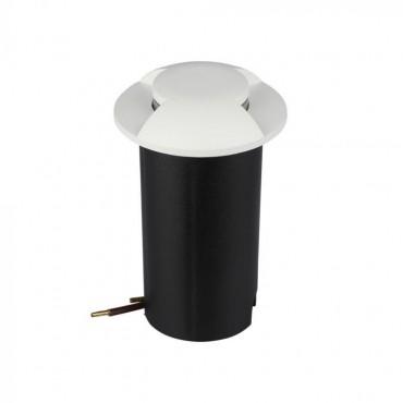 Spot LED etans 1W alb bidirectional cu montaj ingropat in pardoseala alb rece 12V