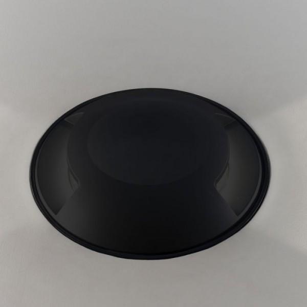 Spot LED etans 1W negru bidirectional cu montaj ingropat in pardoseala alb rece 12V