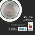 Spot LED orientabil 10W Rotund cu reflector cip CREE 24 de grade Alb Neutru CRI>95 UGR<19