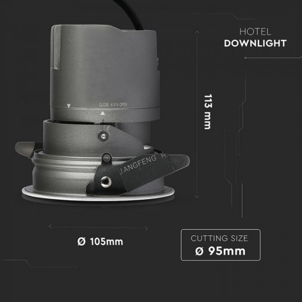 Spot LED orientabil 15W Rotund cu reflector cip CREE 24 de grade Alb Neutru CRI>95 UGR<19