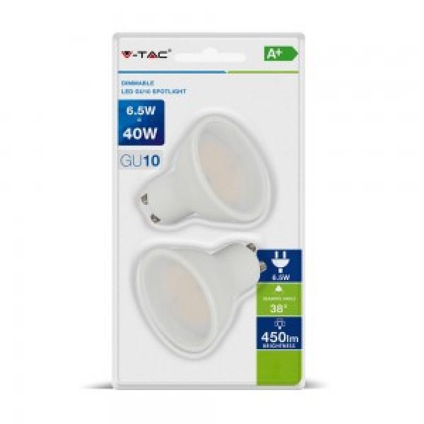 Bec Spot LED 6.5W GU10 Alb Rec...