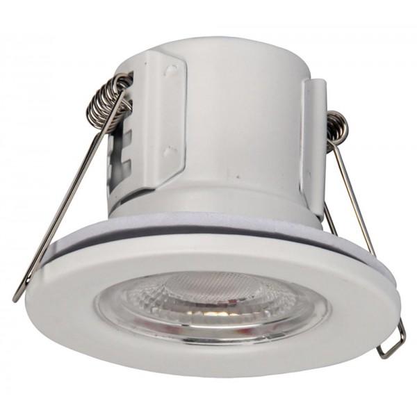Spot LED 5W etans rezistent la incendiu CIP SAMSUNG finisaj alb Alb Cald Dimabil