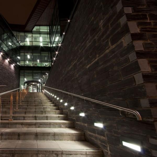 Spot LED etans 6W pentru scari dreptunghiular Corp Negru Alb Cald